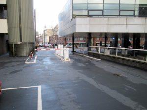 Uitgang parkeerplaats